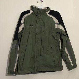 Columbia Outdoors Vortex Olive Windbreaker Jacket